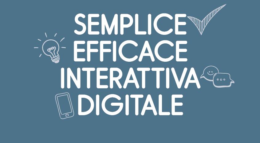 semplice efficace interattiva digitale